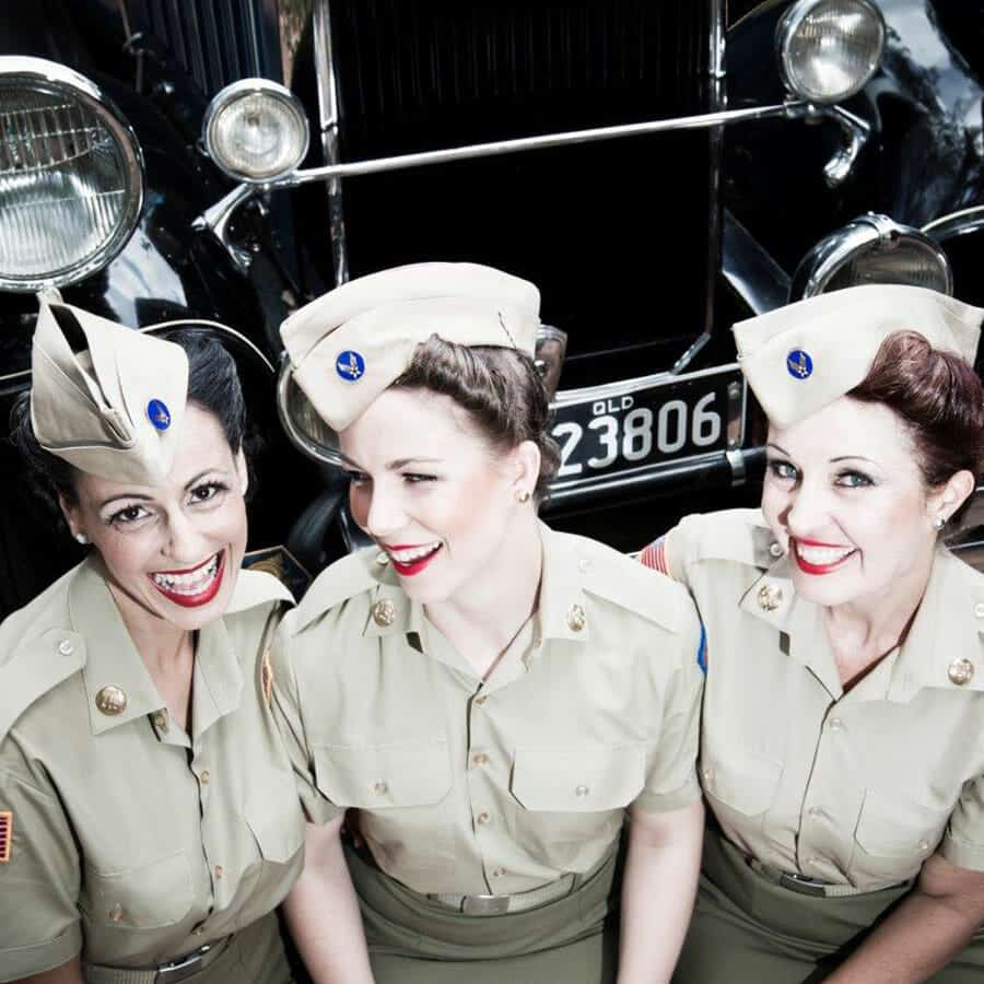 the andrews sisters tribute twin towns clubs resorts