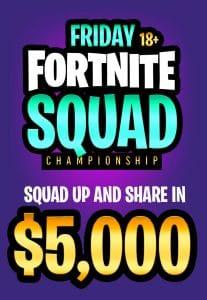 Fortnite Tournament $5000 prize money