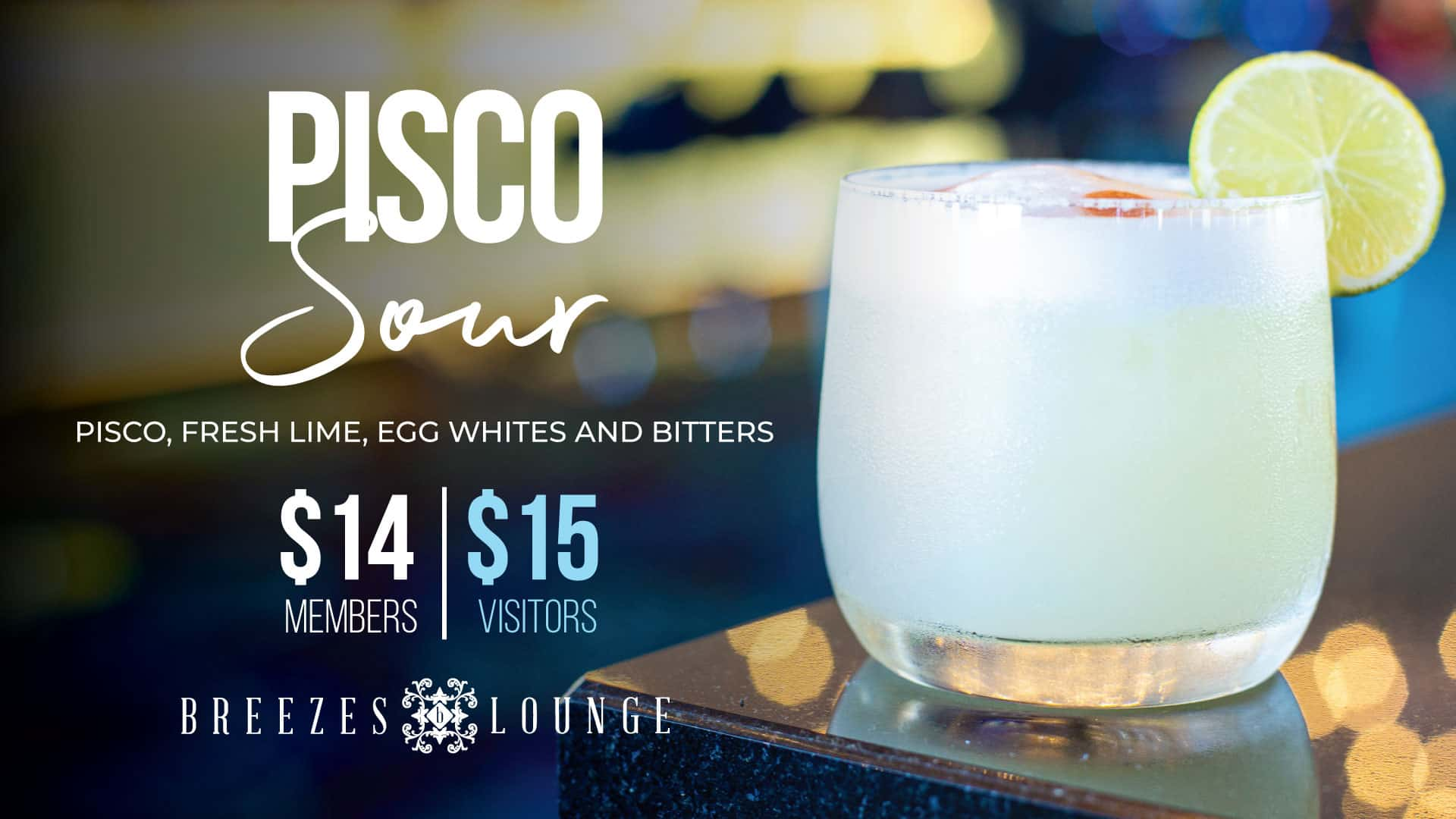 Pisco Sour Twin Towns Clubs Resorts